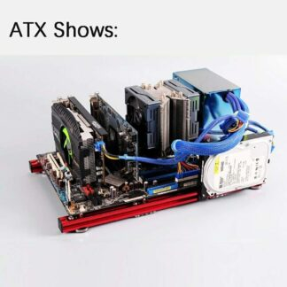 Aluminum Test Bench for ITX MATX ATX EATX Computer Open Frame Air Case HTPC PC Games GPU Twist In Cable Clamp DIY Kits